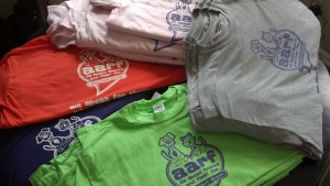 Shirts available in Grey, Pink, Green and Purple